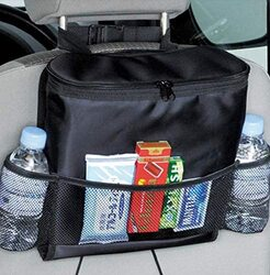 Car Back Seat Beverage and Food Storage Organizer Bag, Black