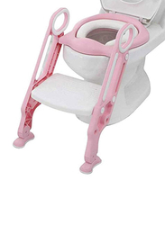 Meetion Potty Training Toilet Seat with Step Stool Ladder, Pink