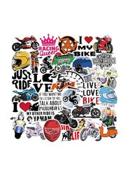 Motorcycle Amaon Hot Style Pull Pole Box Skateboard Refrigerator Notebook Stickers, 50-Pieces, Ages 1+