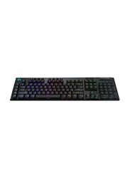 Logitech Clicky G915 Mechanical Wired English Gaming Keyboard, Black