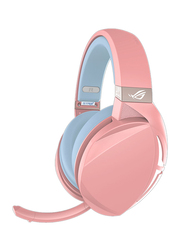 Asus ROG Strix Fusion 300 3.5 mm Jack Over-Ear Gaming Headphones with Mic, Pink/Purple