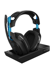 Astro A50 3rd Gen Wireless Over-Ear Noise Cancelling Gaming Headphones with Mic, Black/Blue