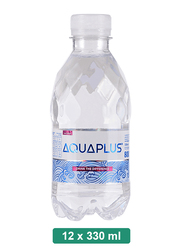 Aquaplus Alkaline Mineral Water, 12 Pet Bottles x 330ml