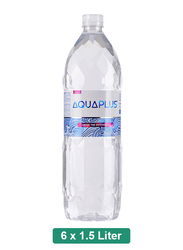 Aquaplus Alkaline Mineral Water, 6 Pet Bottles x 1.5 Liter