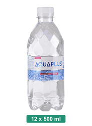 Aquaplus Alkaline Mineral Water, 12 Pet Bottles x 500ml