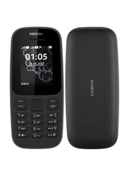 Nokia 105 Black, Without FaceTime, 4MB RAM, GSM, Dual Sim Phone