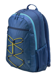 HP Active 15.6-inch Backpack Laptop Bag, Water Resistant, Navy Blue/Yellow