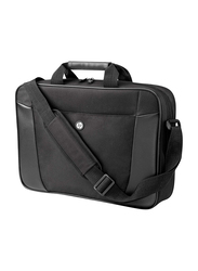 HP Essential Top Load 15.6-inch Messenger Laptop Bag, Business Notebook Carrying Case, Black
