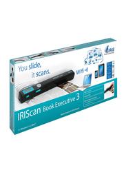 IRIScan Book 3 Mobile Handheld Color Scanner, 900DPI, LCD Display, Black
