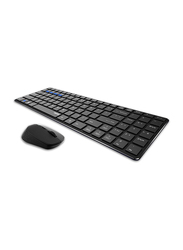 Rapoo 9300M Multimode Ultraslim Wireless Arabic Keyboard and Mouse, Black