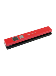 IRIScan Anywhere 5 Document Color Scanner, 1200DPI, LCD Display, Red