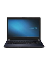 """ASUS PRO Notebook Laptops, 14""""Full HD Display, Intel Core I5-10210U 8th Gen 1.8 GHz, 256GB SSD, 8GB RAM, Intel UHD 620 DDR4 Graphics, English Arabic Keyboard, Win 10, P1440FA-FA2029R, Black"""