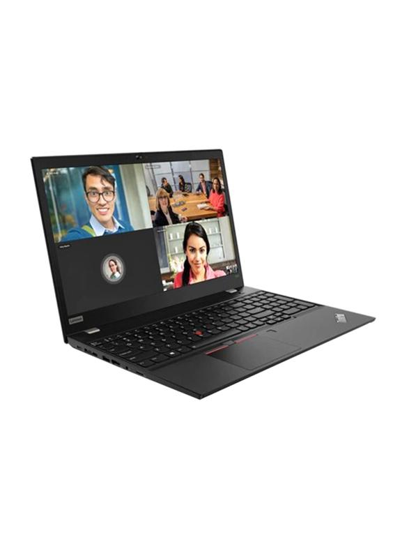 """Lenovo Thinkpad T590, 15.6"""" FHD IPS, Intel Core i7-8565U 8th Gen, 256GB SSD PCIe, 8GB RAM, Intel HD Graphics 620, Arabic/Numeric Keypad with Fingerprint Reader, Win10Pro 64-Bit, Black"""