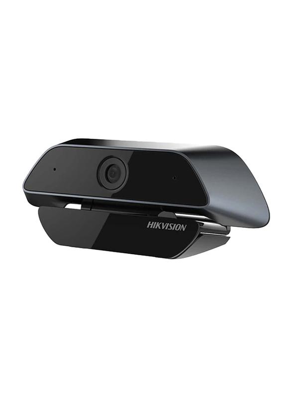 Hikvision DS-U12 Full HD USB Webcam, 2 MP, Black