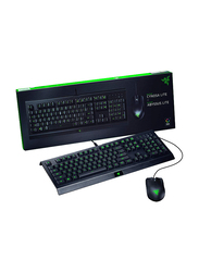 Razer Cynosa Lite RZ84-02740100-B3M1 English Gaming Keyboard & Abyssus Lite Mouse, Black