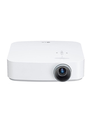 LG PF50KG Full HD DLP CineBeam Portable Home Theater Projector, 600 Lumens, Wireless Screen Share/Bluetooth, White