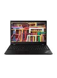 """Lenovo ThinkPad T15 Notebook Laptop, 15.6"""" FHD Display, Intel Core i7 10510u 10th Gen 1.8GHz, 512GB SSD, 8GB RAM, Intel HD Graphics, Eng-Arb KB w/ TB, Win 10 Pro, 20S6000DAD, Black"""
