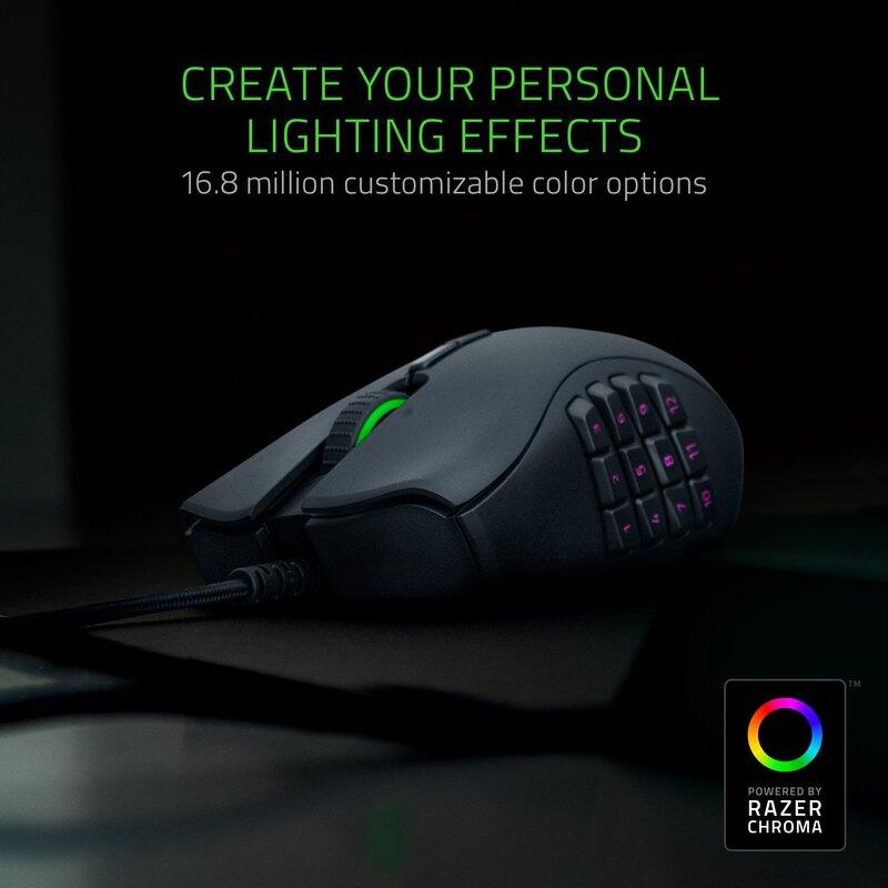 Razer Naga Trinity RZ01-02410100-R3M1 Wired Optical Multicolor Gaming Mouse, Black
