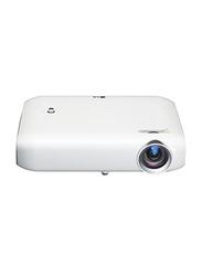 LG PW1000 HD DLP 3D Minibeam Projector, 1000 Lumens, Wireless Screen Share/Bluetooth, White