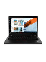 """Lenovo ThinkPad T14 Notebook Laptop, 14"""" FHD Display, Intel Core i7 10510u 10th Gen 1.8GHz, 512GB SSD, 8GB RAM, Intel HD Graphics 620, Eng-Arb KB w/ TB, Win 10 Pro, 20S0001AAD, Black"""
