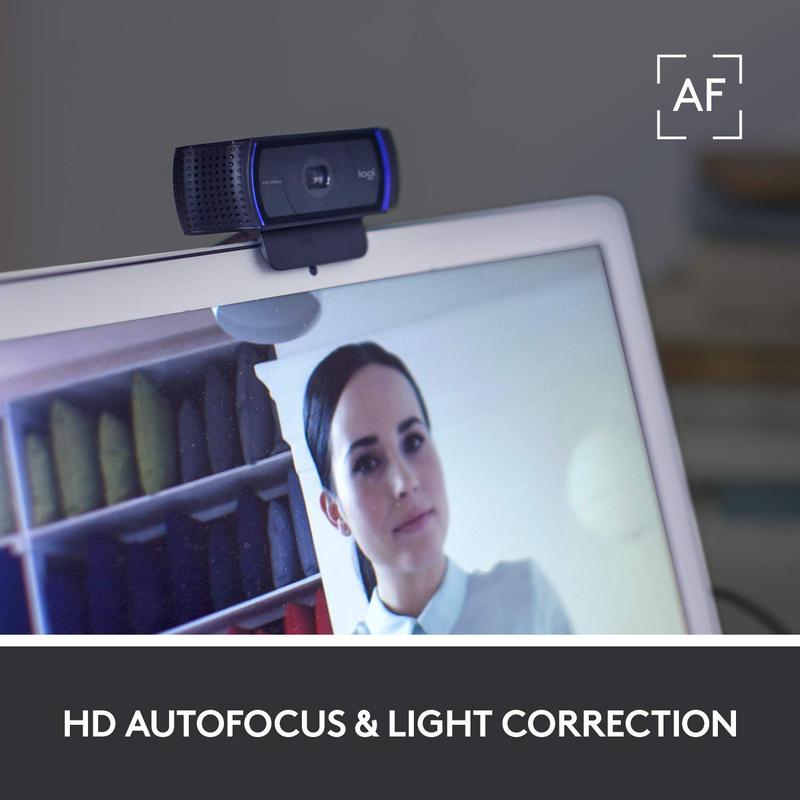 Logitech C920S Pro Full HD Webcam, Black