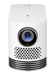 LG HF80LG Full HD ProBeam Portable Laser Projector, 2000 Lumens, Wireless Screen Share/Bluetooth, White