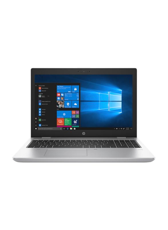 "HP ProBook 650 G5 Notebook Laptop, 15.6"" FHD Display, Intel Core i5-8265U 8th Gen 1.6GHz, 256GB SSD, 8GB RAM, Intel UHD Graphics 620, EN KB, Win 10 Pro, 8MJ63EA#ABV, Silver"