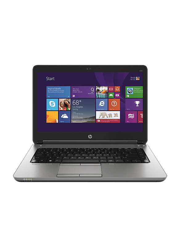 "HP EliteBook 820 G2 Notebook Laptop, 12.5"" HD Display, Intel Core i5-5200U 5th Gen 2.2GHz, 500GB HDD, 4GB RAM, Intel HD Graphics 5300, EN KB, Win 8.1 Pro, K0H02ES#ABV, Black"