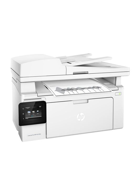 HP LaserJet Pro MFP M130FW G3Q60A All-in-One Wireless Printer, White