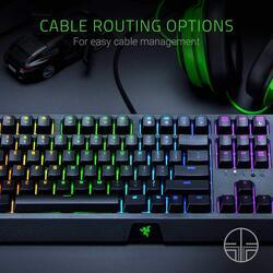 Razer Blackwidow RZ03-02860100-R3M1 Mechanical English Gaming Keyboard, with Razer Green Switches, Black