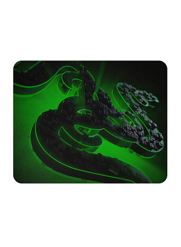 Razer Abyssus Lite RZ83-02730100-B3M1 Optical Wired Gaming Mouse & Goliathus Mobile Construct Edition Mouse Pad, Black