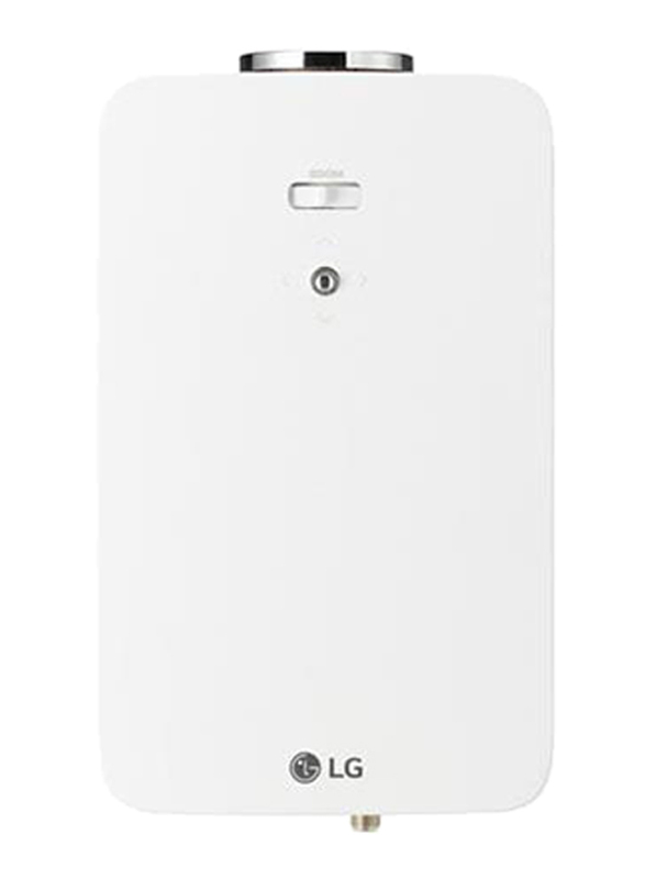 LG PF1500 Full HD DLP Portable Projector, 1400 Lumens, Wireless Screen Share, White