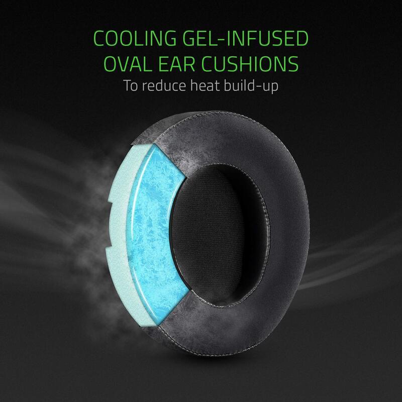 Razer Kraken V3 3.5 mm Jack Over-Ear Gaming Headset with Mic, Green