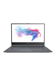 """MSI Modern 14 A10RB Laptop, 14"""" FHD Display, Intel Core i7-10510U 10th Gen 2.6GHz, 512GB SSD, 16GB RAM, NVIDIA MX250 2GB GDDR5 Graphics, EN KB, Win 10, 9S7-14B352-611, Dark Grey"""