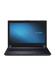 "ASUS PRO Notebook Laptop, 14"" FHD, Intel Core I7-10210U 8th Gen 3.9GHz, 512GB SSD, 8GB RAM, Integrated Intel UHD 620 DVDR DDR4 Graphics, English Arabic Keyboard, Win 10, P1440FA-FA2033R, Black"