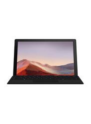 Microsoft Surface Pro 7 Tablet PC, 12.3 inch Touch, Intel Quad Core i7-1065G7 10th Gen 1.3GHz, 256GB SSD, 16GB RAM, Intel Iris Plus Graphics, EN-AR KB, Win 10 Pro, PVT-00006, Platinum