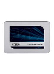 Crucial MX500 500GB 3D NAND SATA 2.5-inch 7mm Internal SSD for PC/Mac, CT500MX500SSD1, Silver