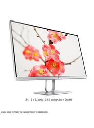 HP 27 Inch QHD LED Monitor, with DP/HDMI Port, 27Q, 3FV90AS#ABV, Silver