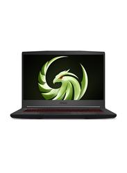 "Msi Bravo 15 Gaming Laptop, 15.6"" FHD Display, AMD Ryzen 5-4600H 3rd Gen, 512GB SSD, 8GB RAM, AMD Radeon RX5300M 3GB, Eng KB w/ TB, Win 10, 9S7-16WK12-002, Black"