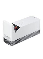 LG HF85JG Full HD DLP Home Theater Projector, 1500 Lumens, Ultra Short Throw, Wireless Screen Share/Bluetooth, White