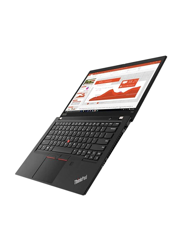 "Lenovo Thinkpad T490, 14"" FHD IPS, Intel Core i7-8565U 8th Gen, 512GB SSD PCIe, 8GB RAM, Intel HD Graphics 620, Backlit Arabic Keyboard with Fingerprint Reader, Win10Pro 64-Bit, Black"