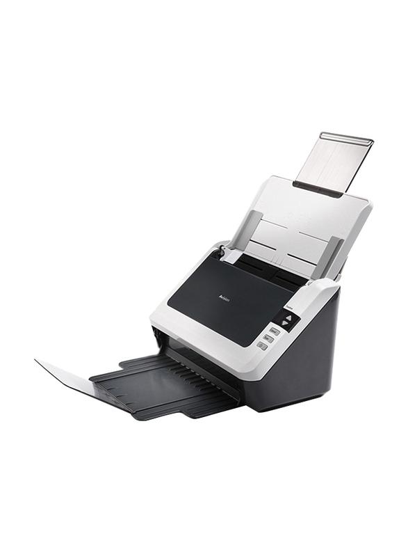 Avision AS240 Document Scanner, 600DPI, LED Display, Black/White