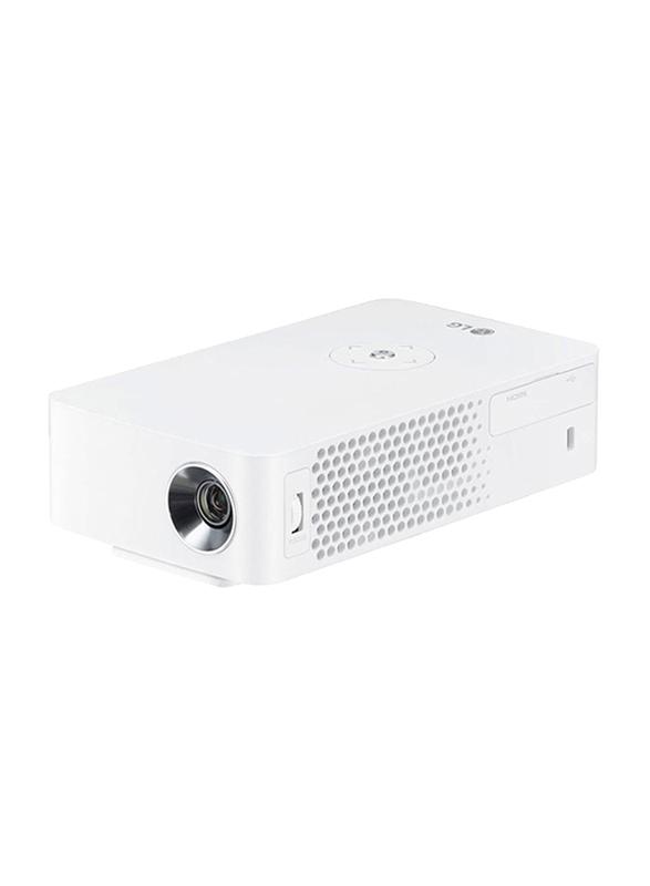 LG PH30 HD DLP CineBeam Portable Projector, 250 Lumens, Wireless Screen Share/Bluetooth, White
