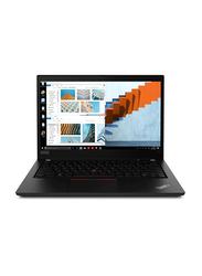 "Lenovo ThinkPad T14 Notebook Laptop, 14"" FHD Display, Intel Core i7 10510u 10th Gen 1.8GHz, 256GB SSD, 8GB RAM, Intel HD Graphics 620, Eng-Arb KB w/ TB, Win 10 Pro, 20S0001EAD, Black"