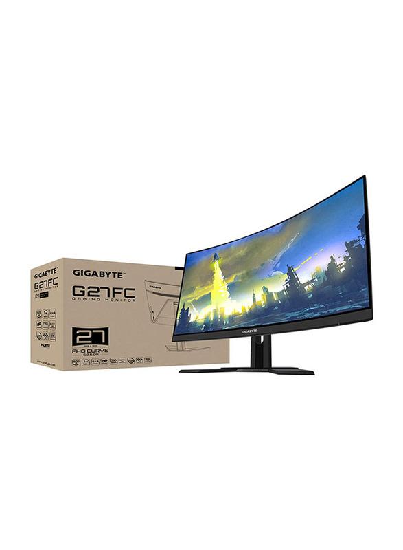 Gigabyte Aorus 27 Inch Curved Full HD LED 165Hz Gaming Monitor, G27FC, Black
