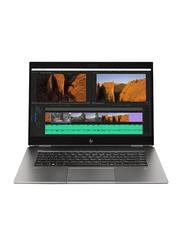 "HP ZBook Studio G5 Mobile Workstation Laptop, 15.6"" FHD, Intel Core i7-9750H 9th Gen 2.60GHz, 512GB SSD, 16GB RAM, NVIDIA Quadro P1000 Graphics, EN KB, Win10 Pro, 6TW41EA#ABV, Grey"
