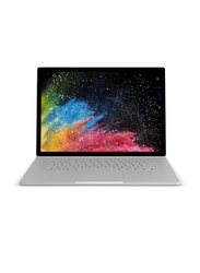 Microsoft Surface Book2 HNM-00018, 13.5 Inch Pixel Sense Intel Quad Core i7-8650U 8th Gen 1.9GHz, 512GB SSD, 16GB RAM, NVIDIA GeForce GTX 1050 Discrete GPU w/2GB GDDR5, EN/AR, Windows 10 Pro, Silver
