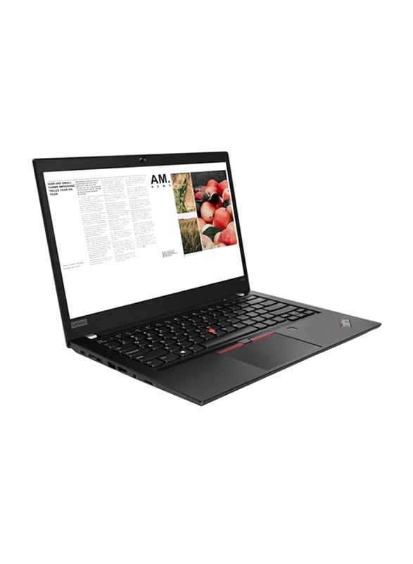 """Lenovo Thinkpad T490, 14"""" FHD IPS, Intel Core i7-8565U 8th Gen, 512GB SSD PCIe, 16GB RAM, Intel HD Graphics 620, Backlit Arabic Keyboard with Fingerprint Reader, Win10Pro 64-Bit, Black"""