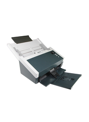 Avision AS240 Document Scanner, 600DPI, LED Display, Black/White