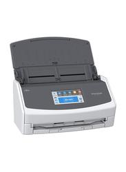 Fujitsu ScanSnap iX1500 Wireless Scanner, 600DPI, LCD Display, Black/White